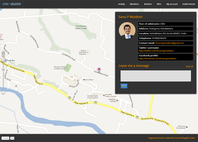 Alumni Map CMC